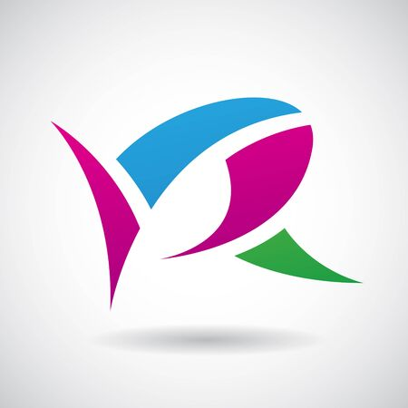 stock clip art icon: Design Concept of a Colorful Stock Icon of Letter R, Vector Illustration Illustration