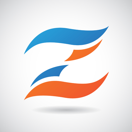 Design Concept of a Colorful Stock Icon of Letter Z, Vector Illustration