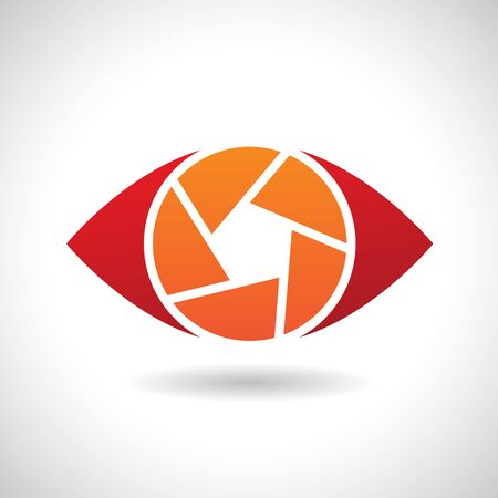 Design Concept of a Shape and Icon of a Shutter Eye Illustration