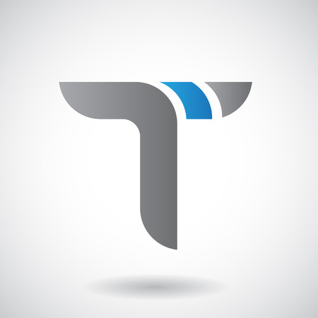 Design Concept of a Colorful Stock Icon of Letter T, Vector Illustration