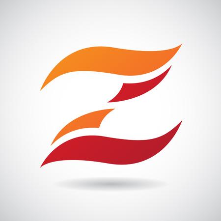 Design Concept d'un Colorful Stock Icon de la lettre Z, vecteur Illustration