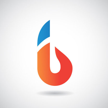 Design Concept of a Colorful Stock Icon of Letter B, Vector Illustration