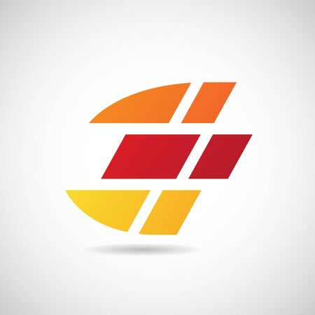 Design Concept of a Colorful Stock Icon of Letter E, Vector Illustration