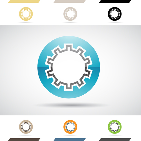 stock clipart icons: Design Concept of Colorful Stock Logos Icons and Shapes of Letter O, Vector Illustration Stock Photo