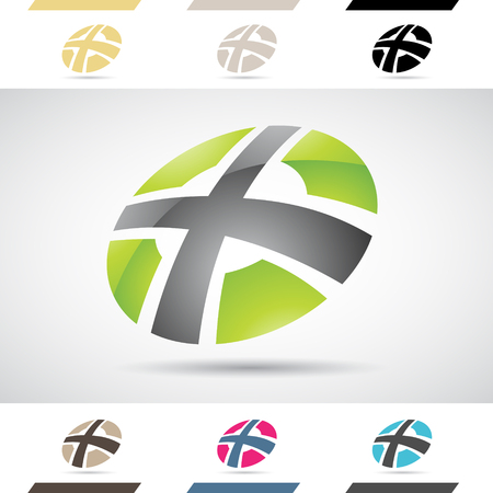 Design Concept of Colorful Stock Logos Icons and Shapes of Letter X, Vector Illustration