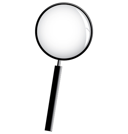 magnification icon: a magnifying glass isolated on a white background