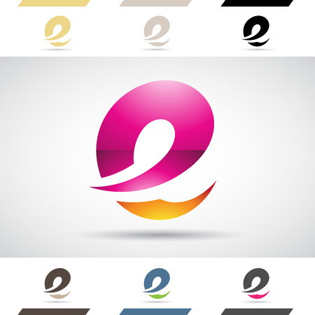 Design Concept of Colorful Stock Logos Icons and Shapes of Letter E, Vector Illustration