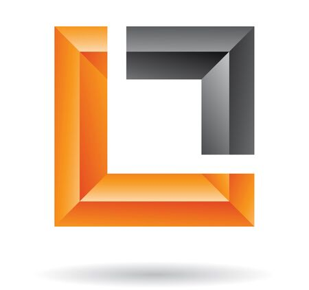 rectangular: Abstract logo icon and graphic design