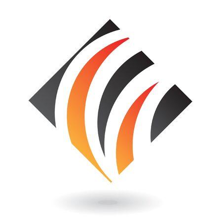 rectangular: Abstract diamond logo icon and design element Stock Photo