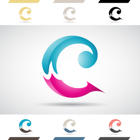 creative arts: Design Concept of Colorful Stock Logos Icons and Shapes of Letter C, Vector Illustration Stock Photo