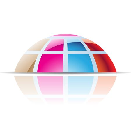 dome: Abstract dome logo icon and design element Stock Photo