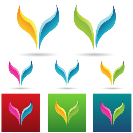 windows 8: vector eps illustration of colorful fish tails