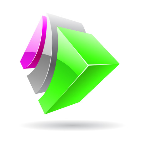 3d colorful cubic logo icon and design element Stock Photo