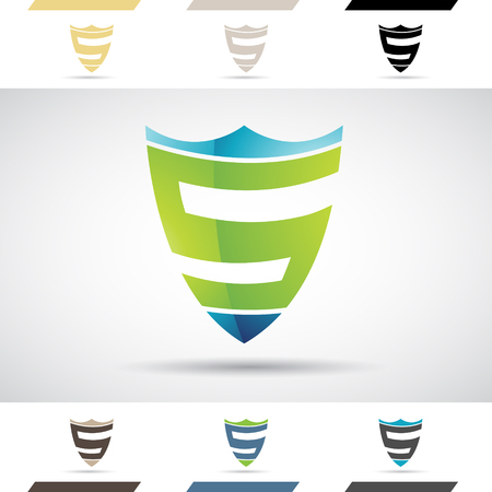 Design Concept of Colorful Stock Logos Icons and Shapes of Letter S, Vector Illustration