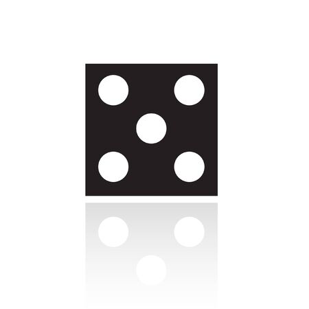 odds: Black dice isolated on white Stock Photo