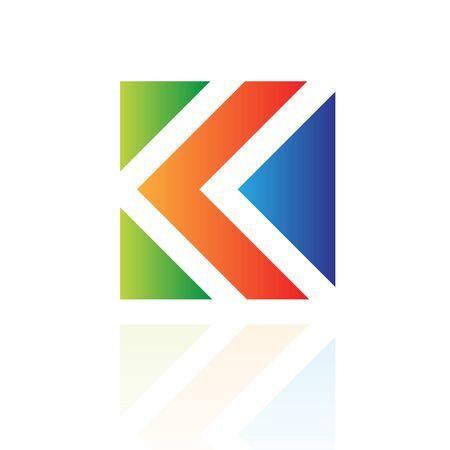 Colorful diamond logo icon and design element