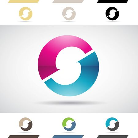 Design Concept of Colorful Stock Logos Icons and Shapes of Letter O, Vector Illustration Stock Photo