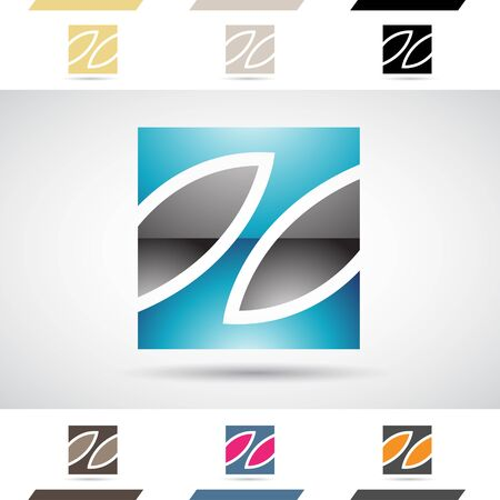 stock clip art icon: Design Concept of Colorful Stock Logos Icons and Shapes of Letter Z, Vector Illustration