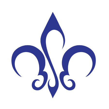 Abstracte lelie logo icoon en design element Stockfoto
