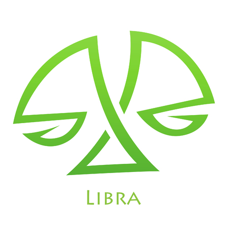 simplistic: Illustration of Simplistic Lines Libra Zodiac Star Sign isolated on a white background