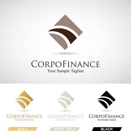 logo informatique: Résumé Place Logo Icône en différentes couleurs Illustration Vecteur Banque d'images
