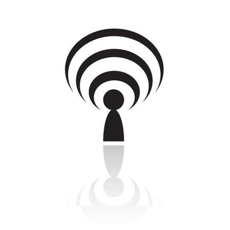 meta: Black podcast isolated on white