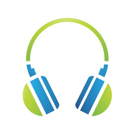 Illustration of PC Accessories Headphones Icon isolated on a white background