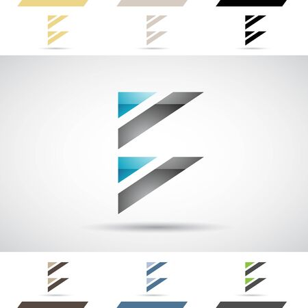 stock clip art icon: Design Concept of Colorful Stock Logos Icons and Shapes of Letter B, Vector Illustration