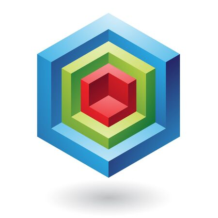 the third dimension: 3d geometric logo icon and design element Stock Photo