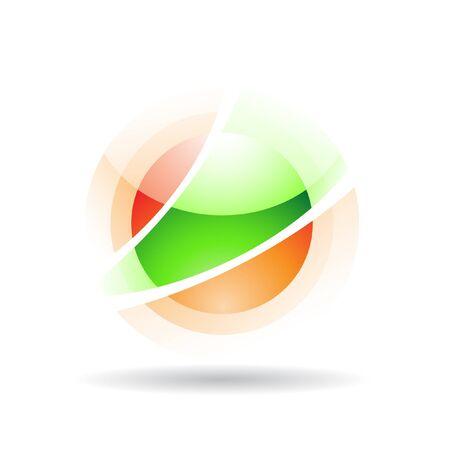 transparent globe: Transparent sphere logo icon and design element