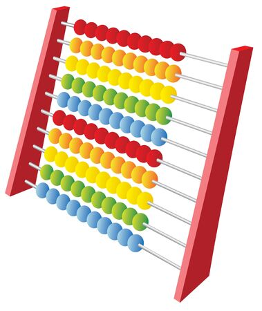sums: Abacus 3d icon isolated on a white background