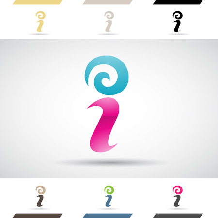 a i: Design Concept of Colorful Stock Logos Icons and Shapes of Letter I, Vector Illustration