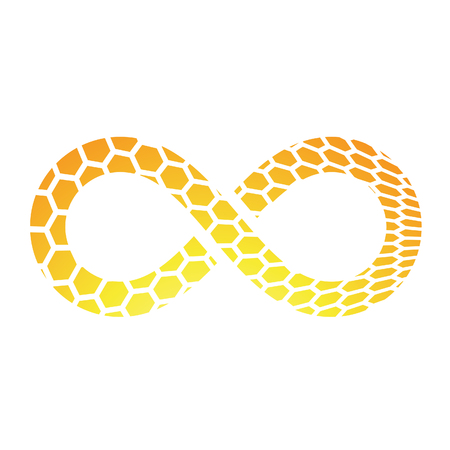 simbolo infinito: Illustration of Infinity Symbol Design isolated on a white background Foto de archivo