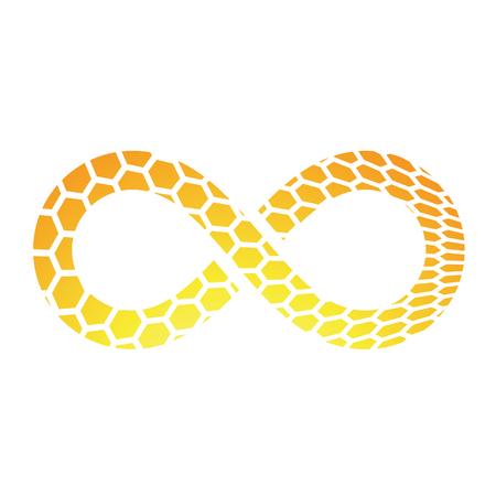 mobius symbol: Illustration of Infinity Symbol Design isolated on a white background Stock Photo