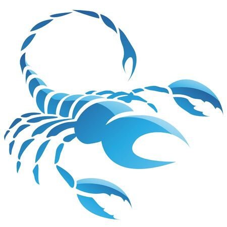 Illustration of Scorpio Zodiac Star Sign isolated on a white background Stock Photo
