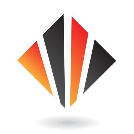 Abstract diamond logo icon and design element Stock Photo