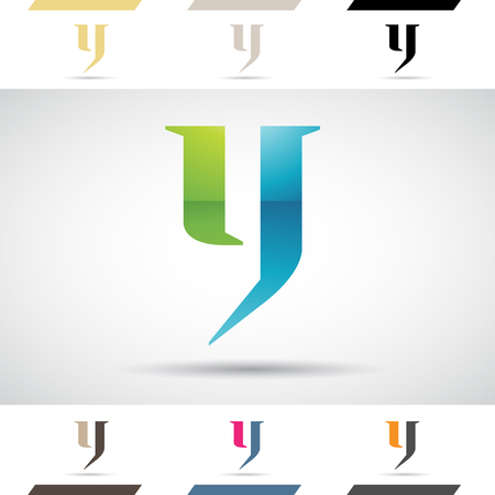 stock clip art: Design Concept of Colorful Stock Logos Icons and Shapes of Letter Y, Vector Illustration