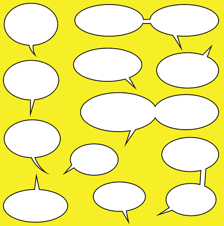 cartooning: speech bubbles vector for your comics