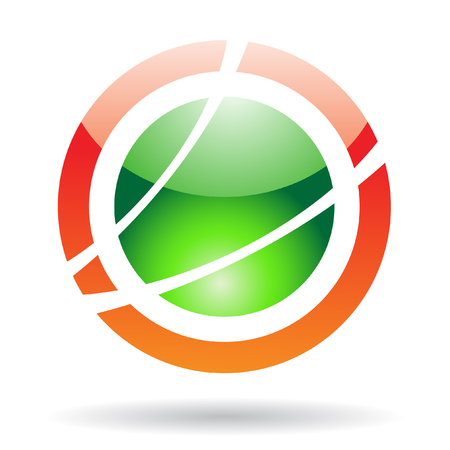 Abstract orbit logo icon and design element