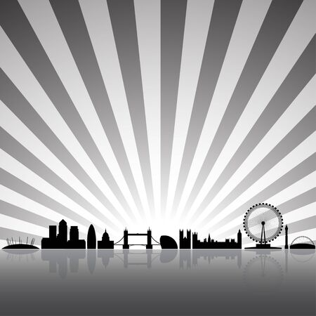 London skyline silhouette on a sunny background Stock Photo