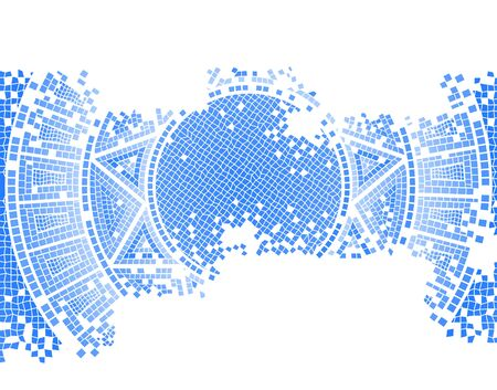 mosaic: blue old mosaic vector background