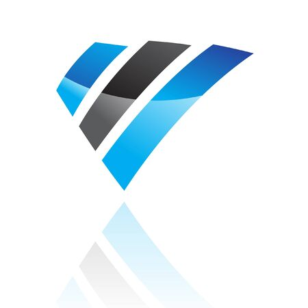 Abstract blue and black logo icon and design element