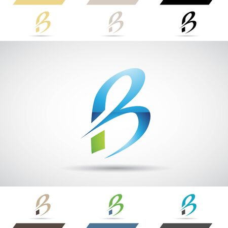 stock clipart icons: Design Concept of Colorful Stock Logos Icons and Shapes of Letter B, Vector Illustration