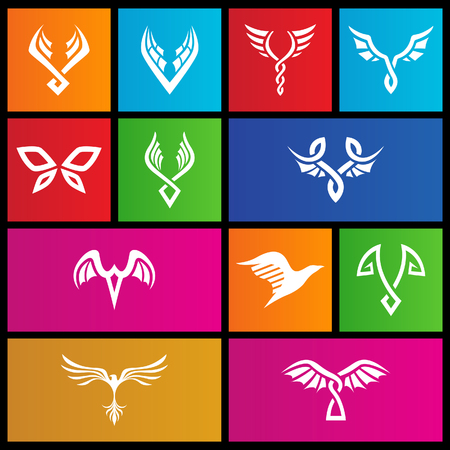 windows 8: vector illustration of metro style abstract wings