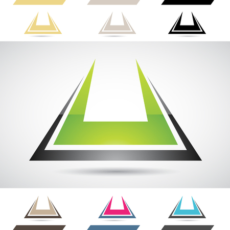 stock clip art icon: Design Concept of Colorful Stock Logos Icons and Shapes of Letter U, Vector Illustration Stock Photo