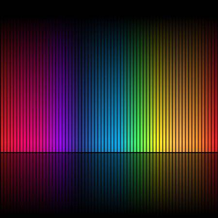 rainbow colours: Abstract rainbow colours on a black background