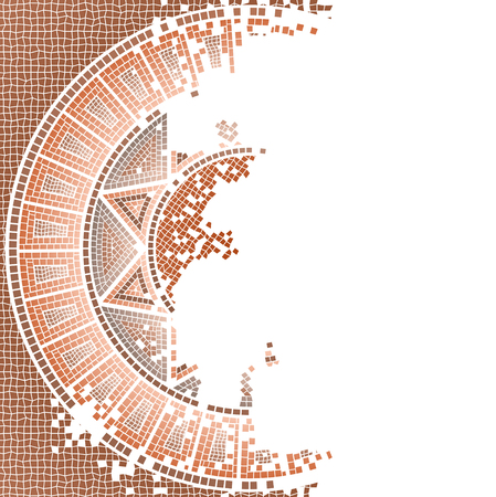 old ruin: Antique, worn out mosaic vector background
