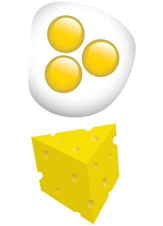 breakfast eggs and cheese vector illustration