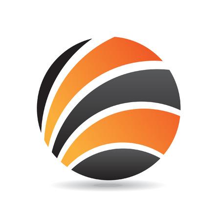 Orange round logo icon and design element