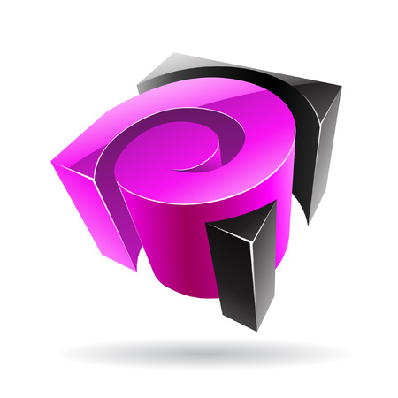cubic: 3d colorful cubic logo icon and design element Stock Photo